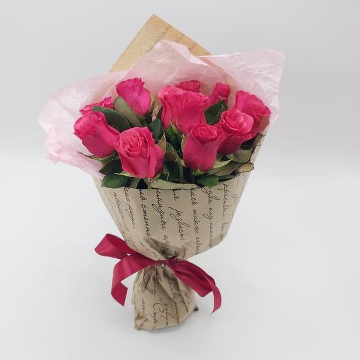Букет на языке цветов из роз