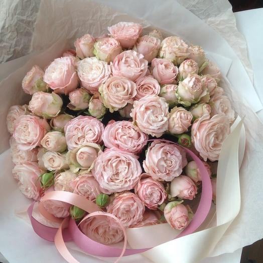 Кустовые пионовидные розы Бомбастик: букеты цветов на заказ Flowwow