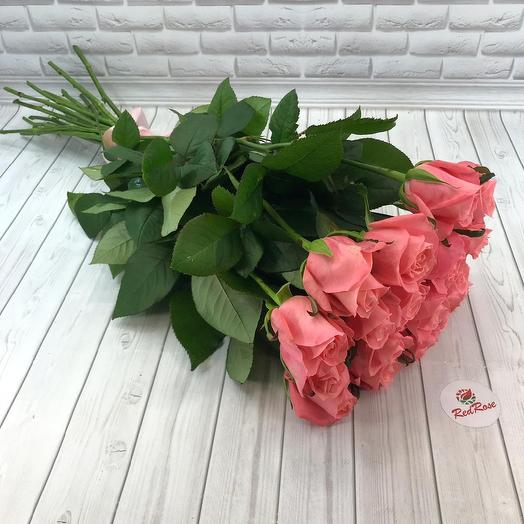 "Букет из 19 роз ""Карина"" 70см: букеты цветов на заказ Flowwow"