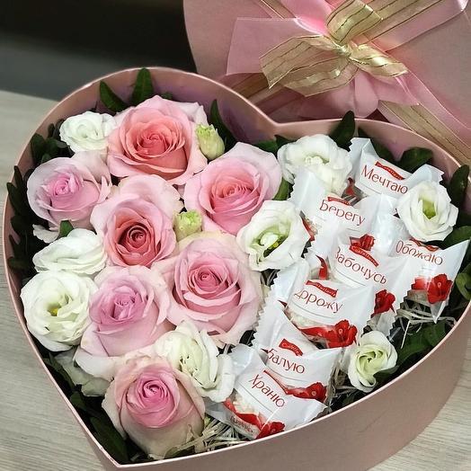 Коробочка с любовью: букеты цветов на заказ Flowwow