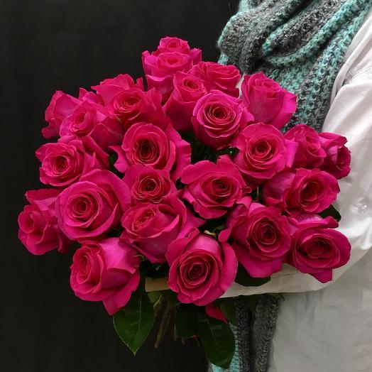 Охапка из роз сорта Pink floyd: букеты цветов на заказ Flowwow