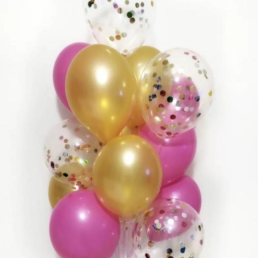 13 воздушных шарика: букеты цветов на заказ Flowwow