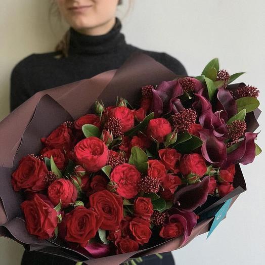 Терпкое вино️: букеты цветов на заказ Flowwow