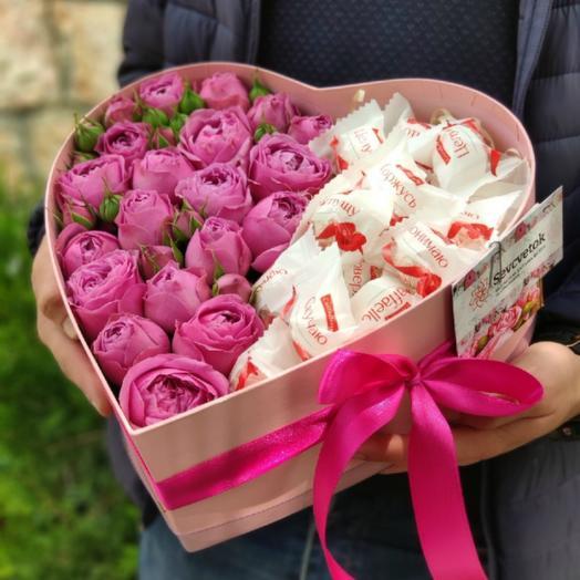 Сладкое сердце 3: букеты цветов на заказ Flowwow