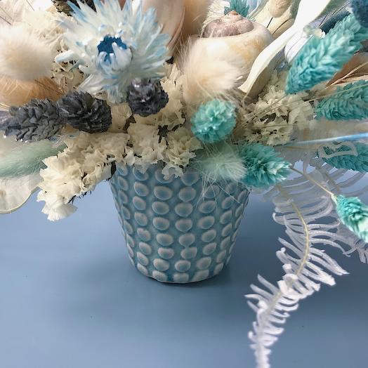 """Композиция """"Морская"""" (S): букеты цветов на заказ Flowwow"""