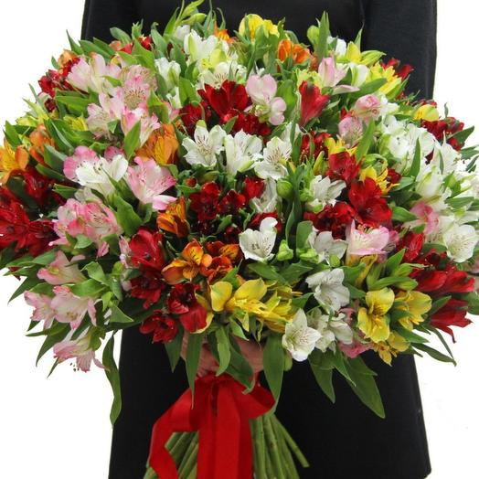 Альстромерия весенняя микс Европа: букеты цветов на заказ Flowwow