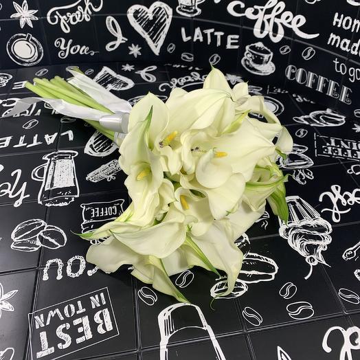 19 белых каллы: букеты цветов на заказ Flowwow