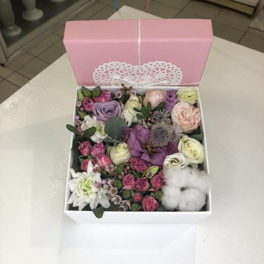 Цветочный бокс: букеты цветов на заказ Flowwow