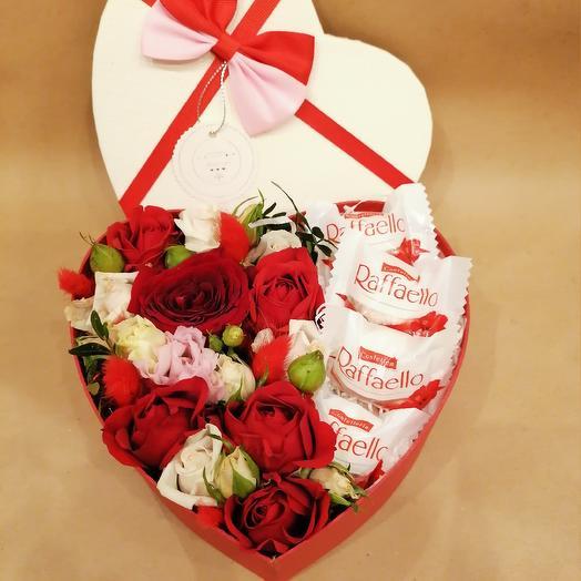 Сладкое сердечко: букеты цветов на заказ Flowwow