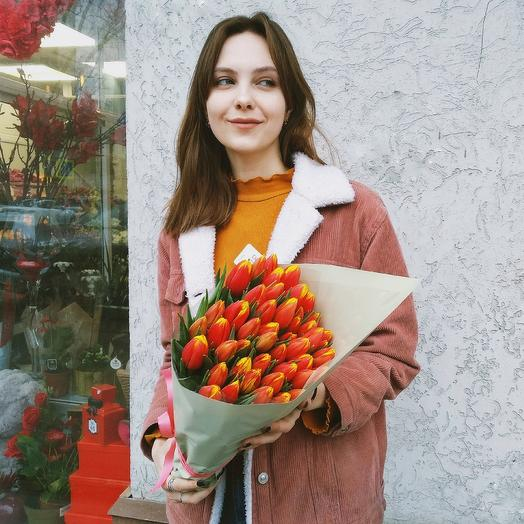 Букет тюльпанов: букеты цветов на заказ Flowwow