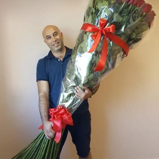 РОЗЫ ДВА МЕТРА: букеты цветов на заказ Flowwow