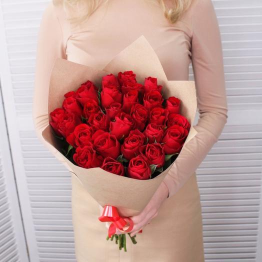 27 красных Роз 45 см