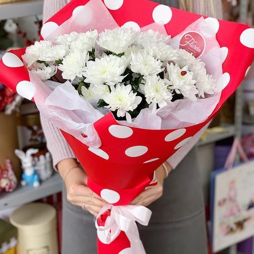 Букет хризантем «Прекрасное утро»