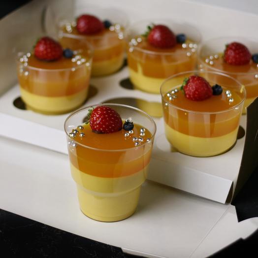 Муссовый десерт в стаканчике «Манго-маракуйя»