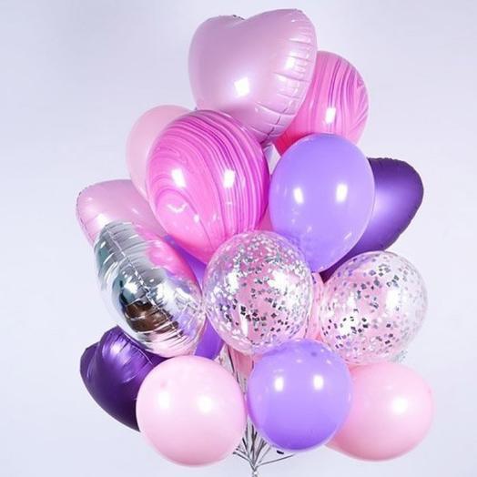 Розовые шарики Агаты