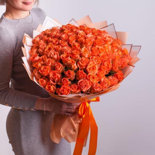 101 оранжевая роза Кения