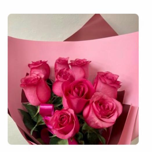 9 премиум роз высоких