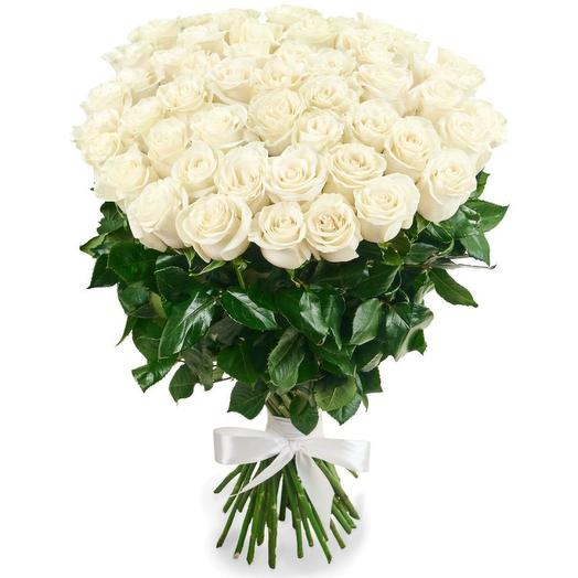 Букет из 51 белой розы (80 см)
