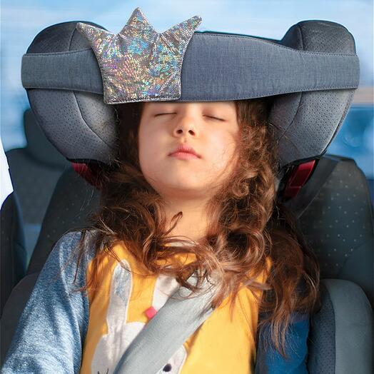 Повязка для сна в автокресле Клювонос Принцесса серебрянный