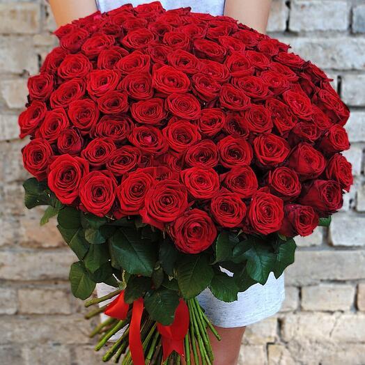 Букет из 101 красной ароматной  розы