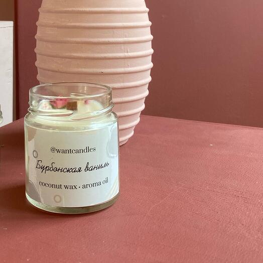 Свеча с ароматом бурбонской ванили
