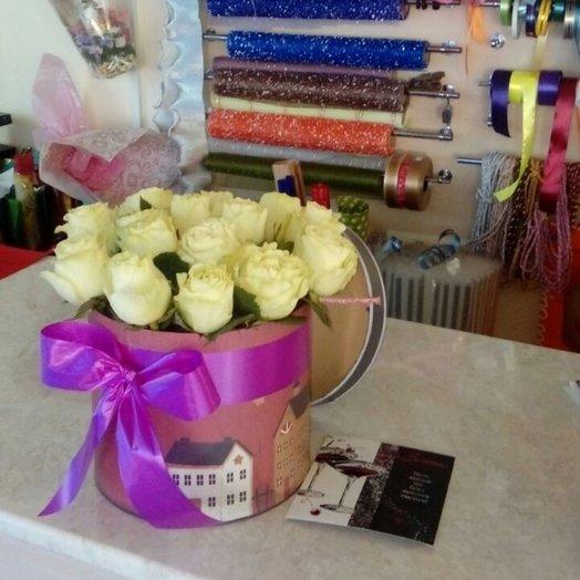 Коробка цветочная 15 роз: букеты цветов на заказ Flowwow
