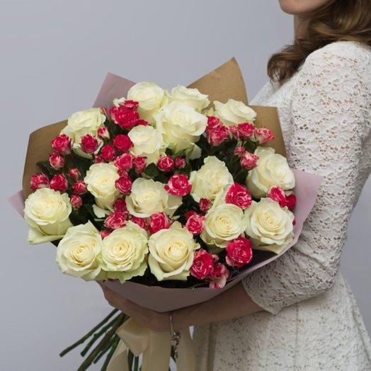 Величество в крафте: букеты цветов на заказ Flowwow