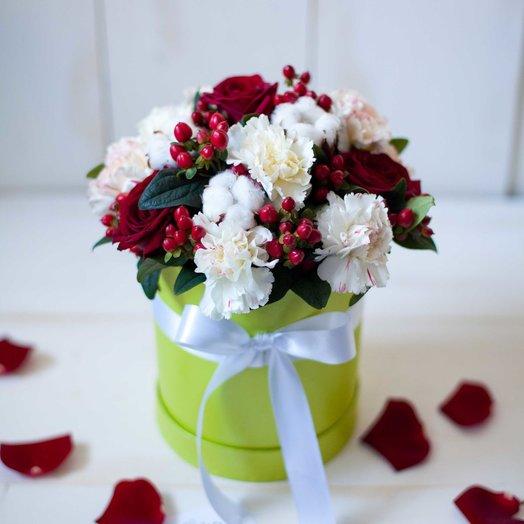 Шляпная коробочка Хлопок: букеты цветов на заказ Flowwow