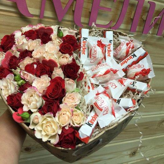 Сладкий подарок в цветах: букеты цветов на заказ Flowwow