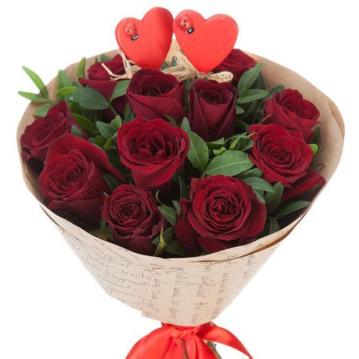 Букет из роз Признание в любви: букеты цветов на заказ Flowwow