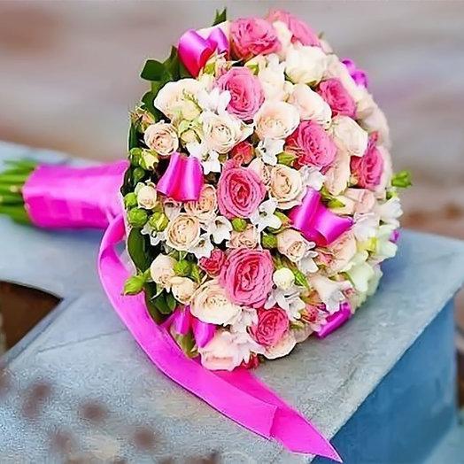 Букет невесты «Европейская романтика»: букеты цветов на заказ Flowwow
