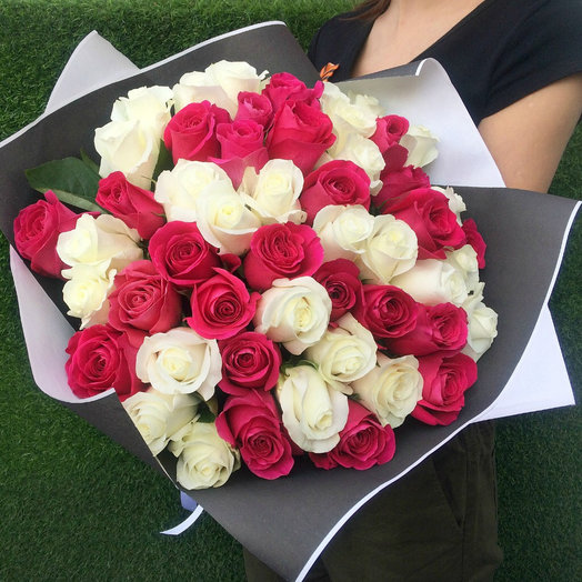 Букет из 51 премиум розы: букеты цветов на заказ Flowwow