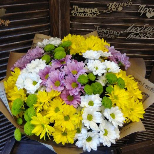 """Букет хризантем """"Ассорти"""": букеты цветов на заказ Flowwow"""