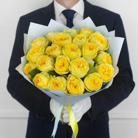 Букет из 21 пионовидной розы Catalina: букеты цветов на заказ Flowwow