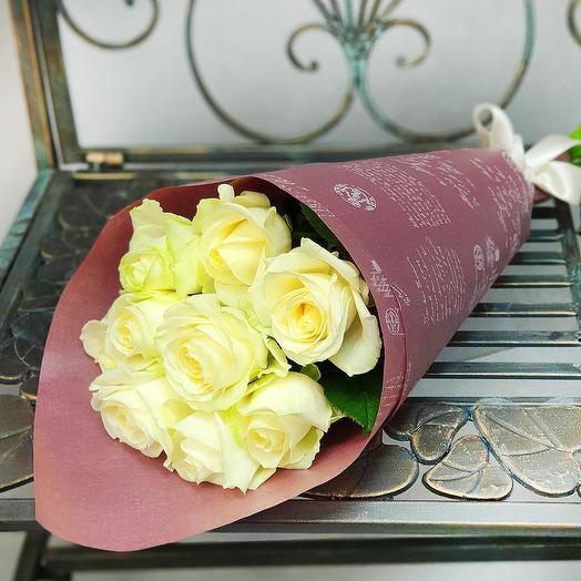 Букет из белых роз: букеты цветов на заказ Flowwow