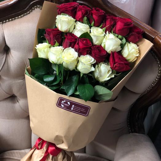 Букет из роз «Гармония»: букеты цветов на заказ Flowwow