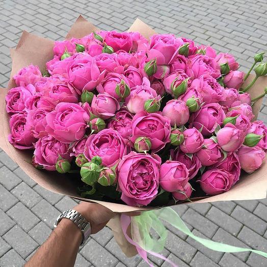 букет  мисти баблс(пионовидная роза)