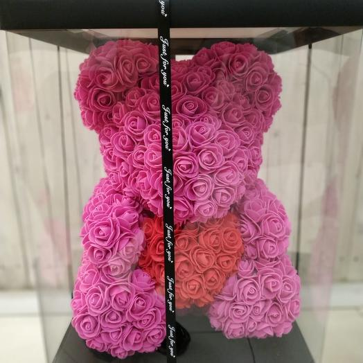 Мишка 3D: букеты цветов на заказ Flowwow