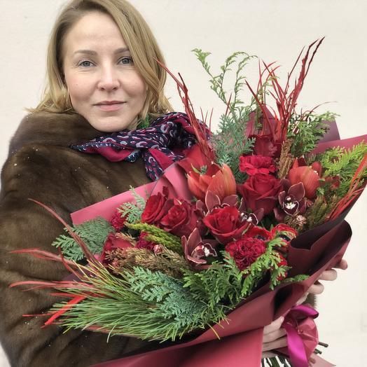 """Букет """"Рождественский"""": букеты цветов на заказ Flowwow"""