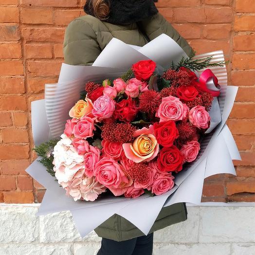 Colour of passion: букеты цветов на заказ Flowwow