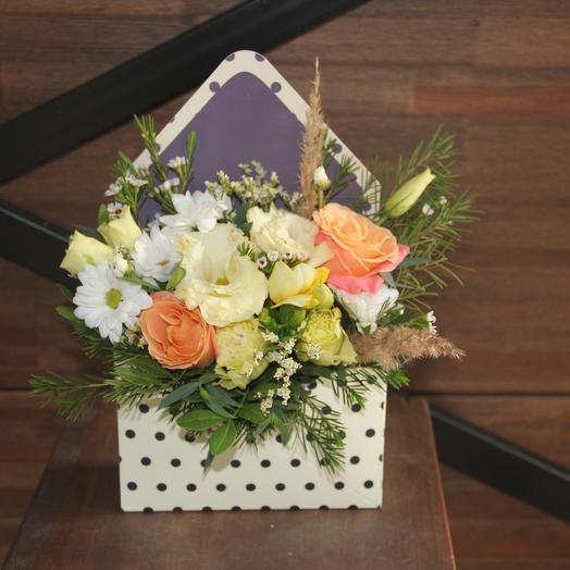 Композиция в конверте: букеты цветов на заказ Flowwow