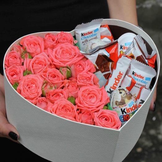 Сладкая коробочка к 14 февряля: букеты цветов на заказ Flowwow