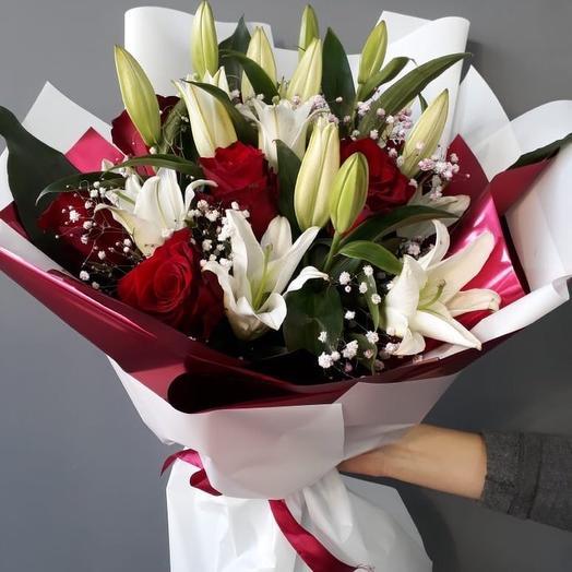 Снежные лилии: букеты цветов на заказ Flowwow