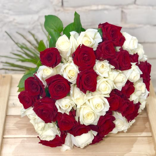 51 rose Mix Red White