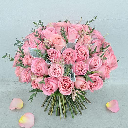 """Букет """"45 Розовых Роз"""": букеты цветов на заказ Flowwow"""