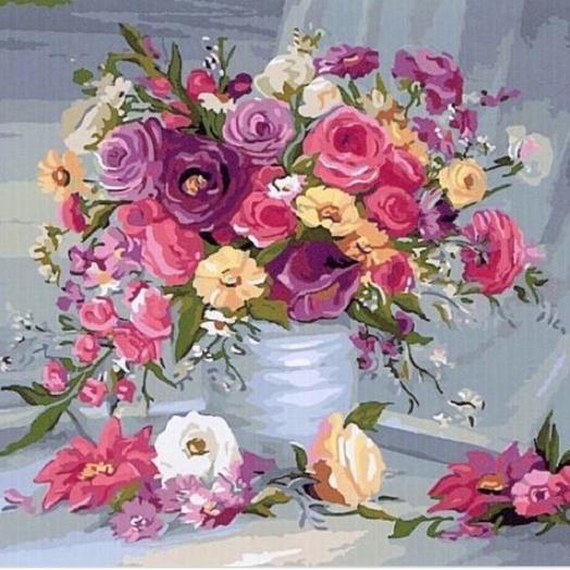 Картина по номерам: букеты цветов на заказ Flowwow