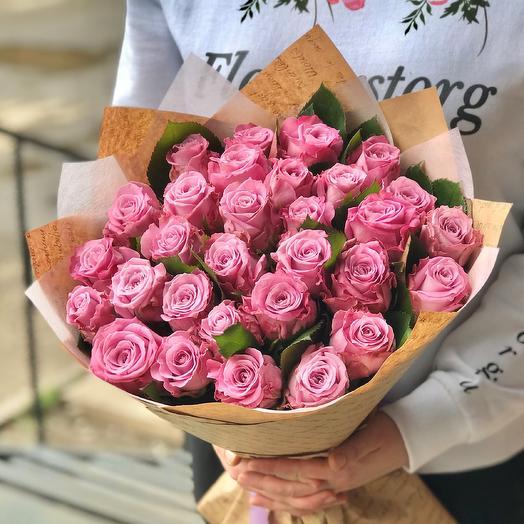 Розы. Букет из 29 роз. N501: букеты цветов на заказ Flowwow