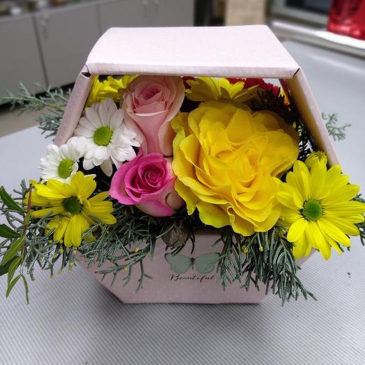 Коробка-сота: букеты цветов на заказ Flowwow