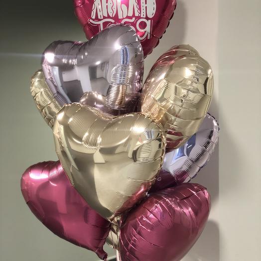 Набор воздушных шаров сердца