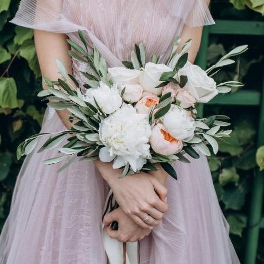 Свадебный растрепыш: букеты цветов на заказ Flowwow